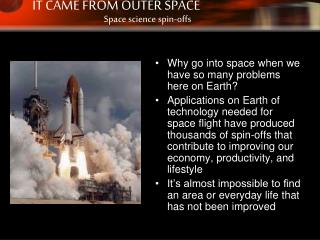 Why go into space when we have so many problems here on Earth?