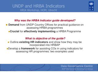 Why was the HRBA Indicator guide developed?