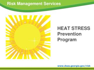 HEAT STRESS  Prevention Program