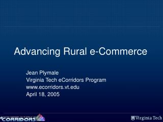 Advancing Rural e-Commerce