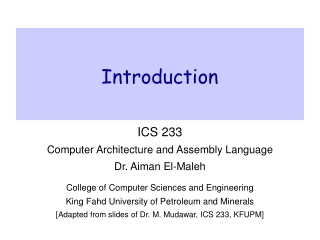 Computer Architecture  Related Topics
