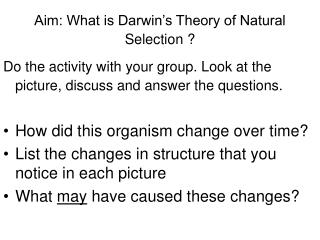 an analysis and question on darwins theory of natural selection