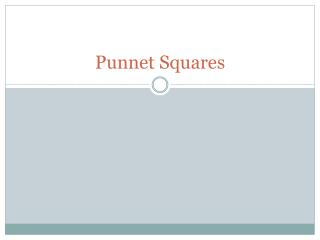 Punnet  Squares