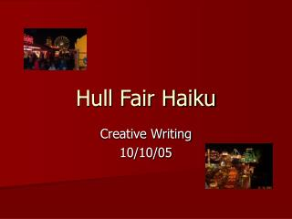 Hull Fair Haiku