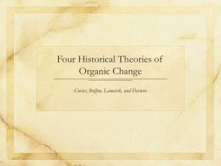 Four Historical Theories of Organic Change