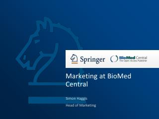 Marketing at BioMed Central