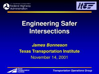 Engineering Safer Intersections