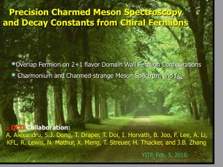 Precision Charmed Meson Spectroscopy and Decay Constants from  Chiral  Fermions