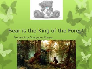 Bear is the King of the Forest