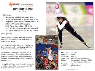 Brittany Bowe at a glance...
