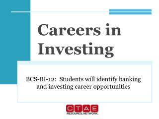 Careers in Investing