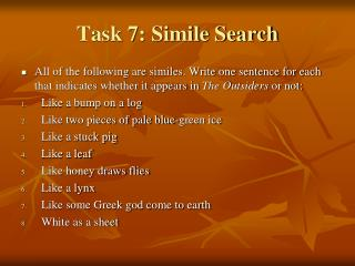 Task 7: Simile Search