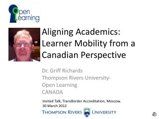 Aligning Academics: Learner Mobility from a Canadian Perspective
