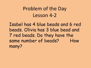 Problem of the Day  Lesson 4-2
