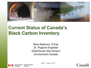 Current Status of Canada's  Black Carbon Inventory