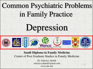 Co mmon Psychiatric Problems in Family Practice Depression