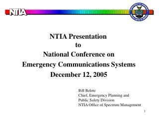 NTIA Presentation to