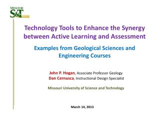 Technology Tools to Enhance the Synergy between Active Learning and  Assessment