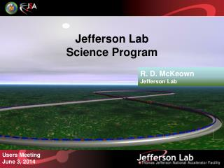 Jefferson Lab Science Program