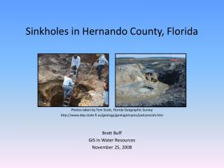 Sinkholes in Hernando County, Florida
