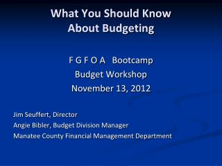 What You Should Know  About Budgeting