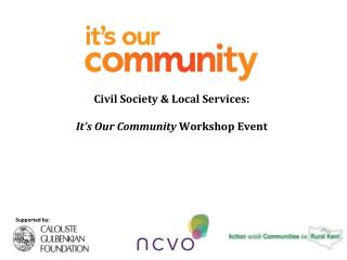 Civil Society & Local Services: It's Our Community Workshop Event