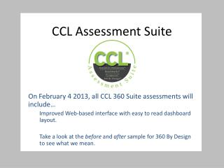 CCL Assessment Suite