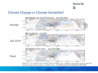 Climate Change or Climate Variability?