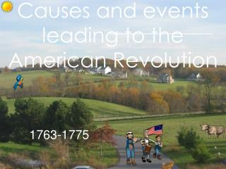 Causes and events leading to the American Revolution