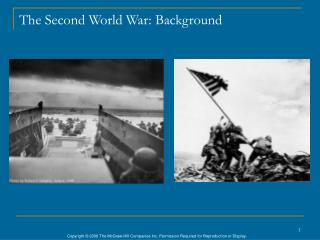 The Second World War: Background