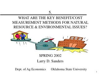 5. WHAT ARE THE KEY BENEFIT/COST MEASUREMENT METHODS FOR NATURAL RESOURCE & ENVIRONMENTAL ISSUES?