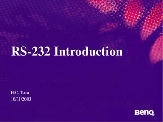 RS-232 Introduction