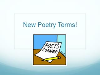 New Poetry Terms!