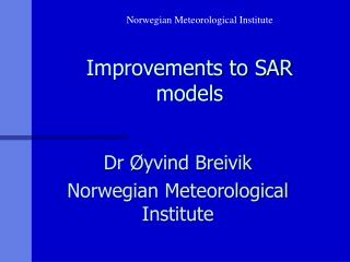 Improvements to SAR models