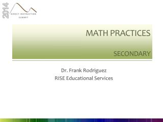 Math practices Secondary