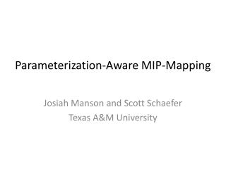 Parameterization-Aware MIP-Mapping