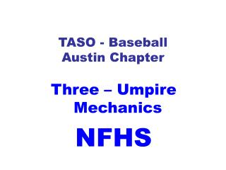 TASO - Baseball Austin Chapter