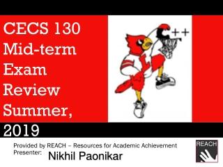CECS 130 Mid-term Test Review