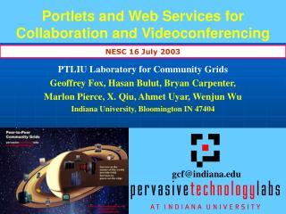 Portlets and Web Services for Collaboration and Videoconferencing