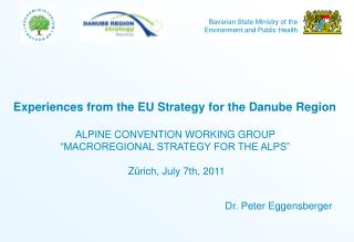 Experiences from the EU Strategy for the Danube Region