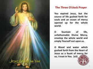 The Three O'clock Prayer
