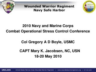Wounded Warrior Regiment Navy Safe Harbor