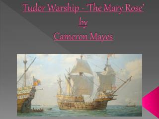 Tudor Warship - 'The Mary Rose' by Cameron Mayes