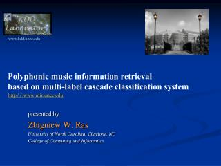 Polyphonic music information retrieval  based on multi-label cascade classification system