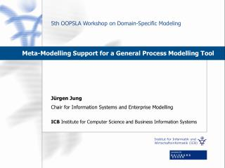 Meta-Modelling Support for a General Process Modelling Tool