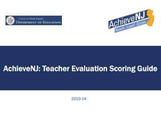 AchieveNJ : Teacher Evaluation Scoring Guide