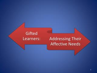 Addressing Affective Needs