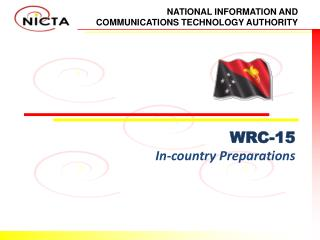 WRC-15 In-country Preparations