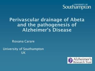 Perivascular drainage of Abeta and the pathogenesis of Alzheimer's Disease