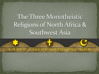 The Origins of the Three Major Monotheistic Religions
